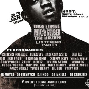 Event: Rapmania Tha X To Host Oba Lurge's Mich Selber The Mixtape Listening Party